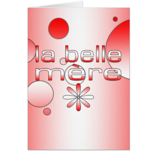 La Belle Mère Canada Flag Colors Pop Art Card