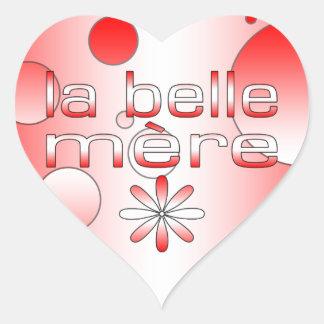 La Belle Mère Canada Flag Colors Pop Art Heart Sticker