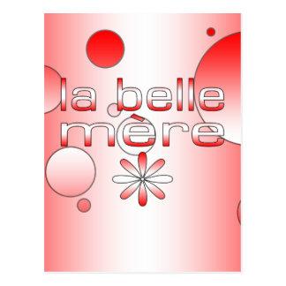 La Belle Mère Canada Flag Colors Pop Art Postcard