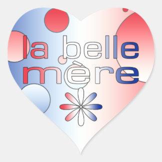 La Belle Mère France Flag Colors Pop Art Heart Sticker