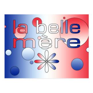 La Belle Mère France Flag Colors Pop Art Postcard