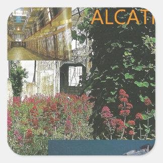 La belleza de Alcatraz de San Francisco Pegatina Cuadrada