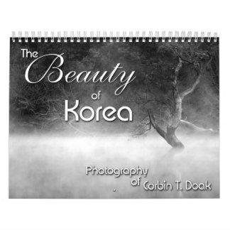 La belleza de Corea Calendario De Pared