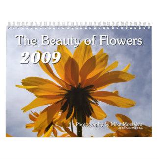 La belleza de flores calendario