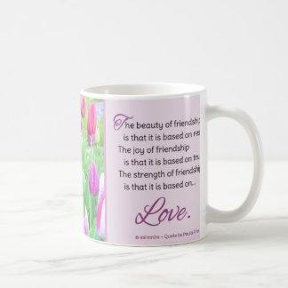 La belleza de la amistad… taza de café