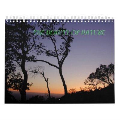 La belleza de la colección de la naturaleza (calen calendarios