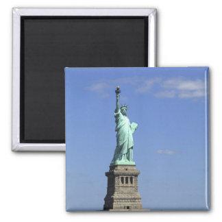 La belleza de la estatua de la libertad famosa enc imán de frigorifico