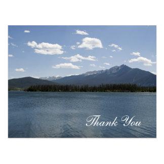 La belleza de la montaña de Colorado le agradece Postal