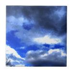 La belleza de la naturaleza en nubes azulejo ceramica