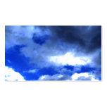 La belleza de la naturaleza en nubes tarjeta de negocio