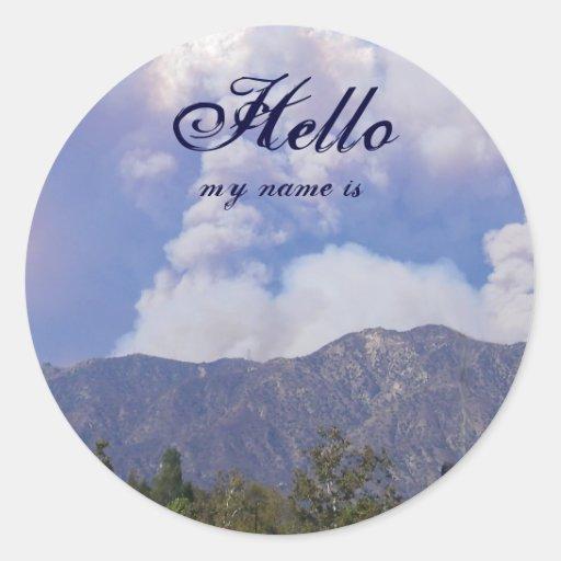 La belleza de la naturaleza, hola, mi nombre es etiquetas redondas