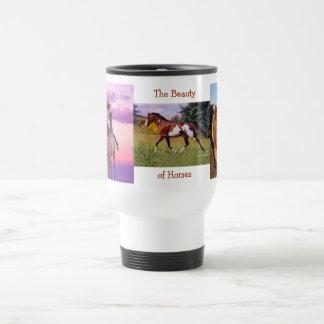 La belleza de la taza de los caballos
