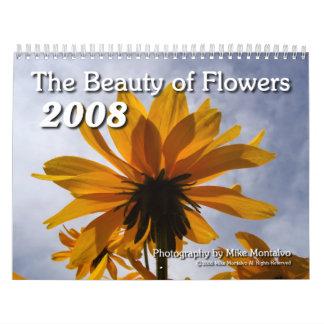 La belleza de las flores 2008 calendario