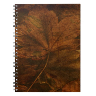 La belleza de las hojas de otoño libretas espirales