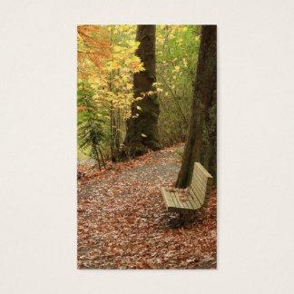La belleza de las tarjetas de visita del otoño