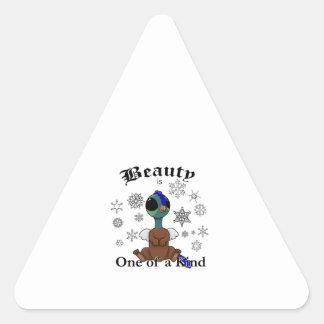 La belleza de Squite es una de una clase con los Pegatina Triangular
