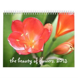 la belleza del calendario de las flores 2013