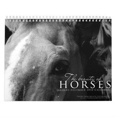 La belleza del calendario de los caballos