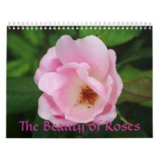 La belleza del calendario de los rosas