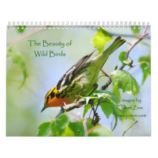 La belleza del calendario salvaje de los pájaros