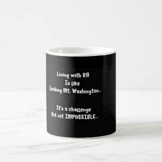 La belleza del desafío taza de café