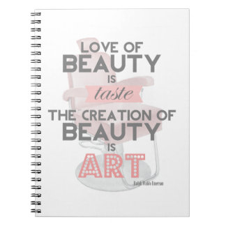 La belleza del estilista es cuaderno retro de la c