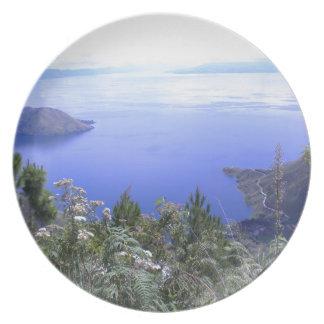 La belleza del lago Toba Plato Para Fiesta