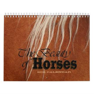 La belleza del tirón de los caballos 2011 calendarios