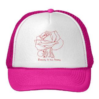 La belleza es gorra demasiado pesado