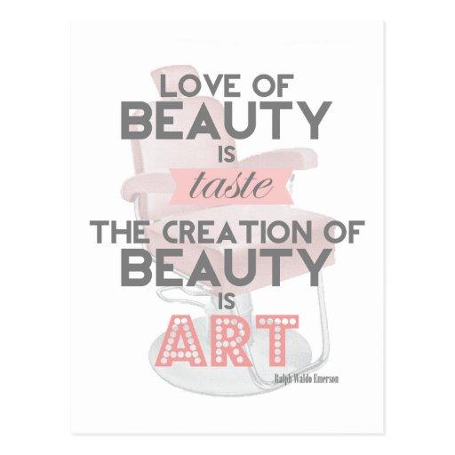 La belleza es postal del salón del estilista del a