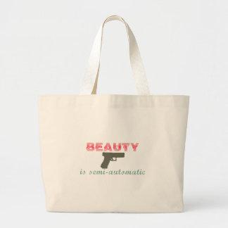 La belleza es semiautomática bolsas lienzo
