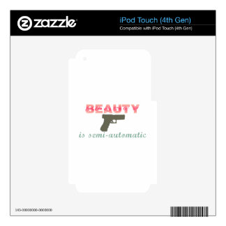 La belleza es semiautomática iPod touch 4G skins