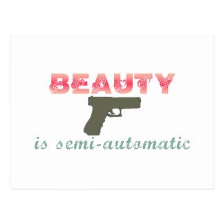 La belleza es semiautomática postales