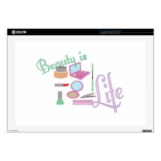 La belleza es vida portátil calcomanía