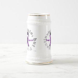 La belleza invisible, pero del presente miente en  jarra de cerveza
