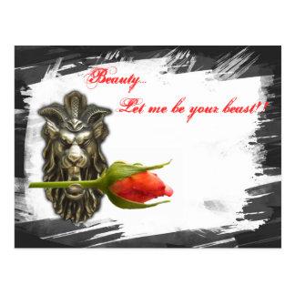 ¡La belleza… me dejó ser su bestia!! postal