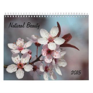 La belleza natural florece 2015 calendario