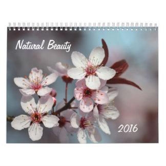 La belleza natural florece 2016 calendarios de pared