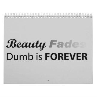 La belleza se descolora - cojín calendario