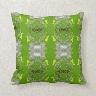la belleza verde y amarilla almohada