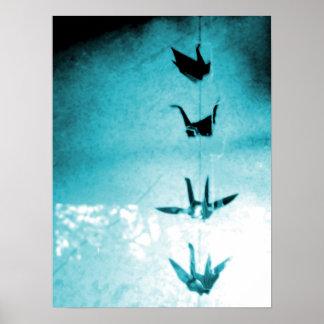 La bendición Cranes el poster del arte de la fotog