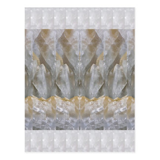La bendición DA el ARTE de piedra cristalino Postal