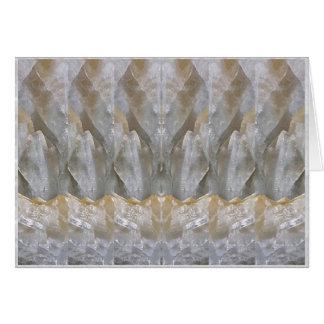 La bendición DA el ARTE de piedra cristalino Tarjeta Pequeña