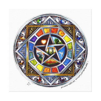 La bendición de elementos envolvió la lona impresión de lienzo