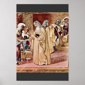 La bendición de St. Clare por la loteria Lorenzo Póster