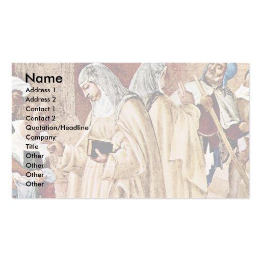 La bendición de St. Clare por la loteria Lorenzo ( Tarjetas De Visita
