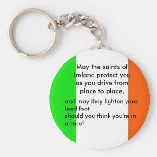 La bendición del conductor irlandés llaveros