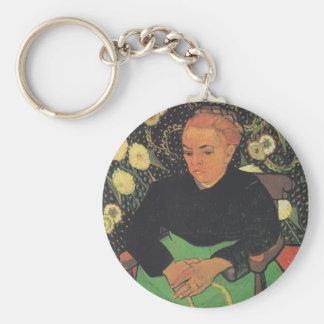 La Berceuse (Augustine Roulin) by Vincent Van Gogh Keychain