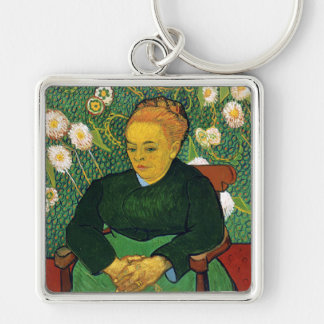 La Berceuse, Woman Rocking a Cradle, Van Gogh Key Chain