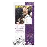 La berenjena, boda floral de la momia blanca le ag tarjeta personal con foto
